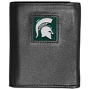 Siskiyou Buckle CTRN41 Michigan St. Spartans Leather Tri-fold Wallet