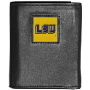 Siskiyou Buckle CTRN43 LSU Tigers Leather Tri-fold Wallet