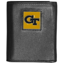 Siskiyou Buckle CTRN44 Georgia Tech Yellow Jackets Leather Tri-fold Wallet