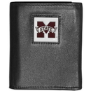 Siskiyou Buckle CTRN45 Mississippi St. Bulldogs Leather Tri-fold Wallet