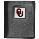 Siskiyou Buckle CTRN48 Oklahoma Sooners Leather Tri-fold Wallet