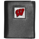 Siskiyou Buckle CTRN51 Wisconsin Badgers Leather Tri-fold Wallet