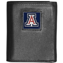 Siskiyou Buckle CTRN54 Arizona Wildcats Leather Tri-fold Wallet