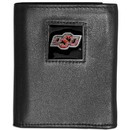 Siskiyou Buckle CTRN58 Oklahoma State Cowboys Leather Tri-fold Wallet