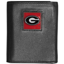 Siskiyou Buckle CTRN5 Georgia Bulldogs Leather Tri-fold Wallet
