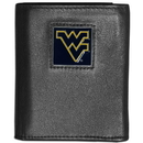 Siskiyou Buckle CTRN60 W. Virginia Mountaineers Leather Tri-fold Wallet