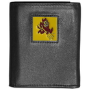 Siskiyou Buckle CTRN68 Arizona St. Sun Devils Leather Tri-fold Wallet