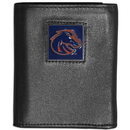 Siskiyou Buckle CTRN73 Boise St. Broncos Leather Tri-fold Wallet