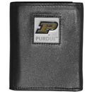 Siskiyou Buckle CTRN84 Purdue Boilermakers Leather Tri-fold Wallet