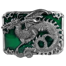Siskiyou Buckle D29E Dragon with Scroll Enameled Belt Buckle
