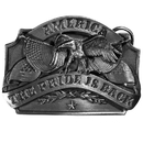 Siskiyou Buckle D40 American Pride Antiqued Belt Buckle