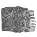 Siskiyou Buckle D92 Navy Seal on Flag Antiqued Belt Buckle