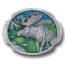 Siskiyou Buckle E30GR Moose Antiqued Belt Buckle