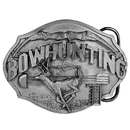 Siskiyou Buckle Bowhunting Antiqued Belt Buckle, E50
