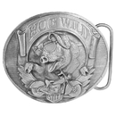 Siskiyou Buckle Hog Wild Antiqued Belt Buckle, E77
