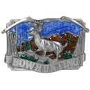 Siskiyou Buckle F146E Bow hunting with Deer Enameled Belt Buckle