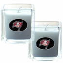 Siskiyou Buckle F2CD030 NFL Candle Set (2) - Tampa Bay Buccaneers