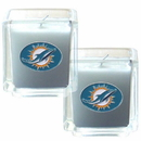 Siskiyou Buckle F2CD060 Miami Dolphins Scented Candle Set