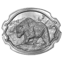 Siskiyou Buckle Grizzly Bear Antiqued Belt Buckle, F30
