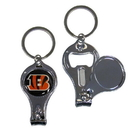 Siskiyou Buckle F3KC010 Cincinnati Bengals Nail Care/Bottle Opener Key Chain