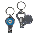 Siskiyou Buckle F3KC060 Miami Dolphins Nail Care/Bottle Opener Key Chain