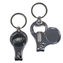 Siskiyou Buckle F3KC065 Philadelphia Eagles Nail Care/Bottle Opener Key Chain