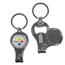 Siskiyou Buckle F3KC160 Pittsburgh Steelers Nail Care/Bottle Opener Key Chain