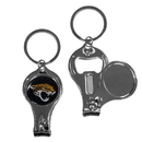 Siskiyou Buckle F3KC175 Jacksonville Jaguars Nail Care/Bottle Opener Key Chain