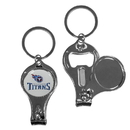Siskiyou Buckle F3KC185 Tennessee Titans Nail Care/Bottle Opener Key Chain