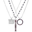 Siskiyou Buckle New York Giants Trio Necklace Set, F3NK090