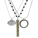 Siskiyou Buckle Green Bay Packers Trio Necklace Set, F3NK115