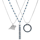 Siskiyou Buckle Carolina Panthers Trio Necklace Set, F3NK170