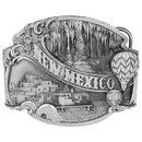 Siskiyou Buckle New Mexico Antiqued Belt Buckle, F67
