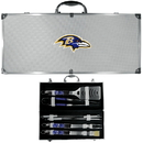Siskiyou Buckle Baltimore Ravens 8 pc Tailgater BBQ Set, F8BQ180