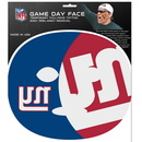 Siskiyou Buckle F8GFD090 New York Giants Set of 8 Game Day Faces