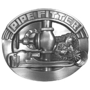 Siskiyou Buckle Pipe Fitter Antiqued Belt Buckle, F8