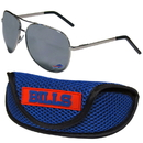 Siskiyou Buckle Buffalo Bills Aviator Sunglasses and Sports Case, FASG015SC