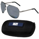 Siskiyou Buckle Indianapolis Colts Aviator Sunglasses and Zippered Carrying Case, FASG050HC