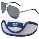 Siskiyou Buckle Indianapolis Colts Aviator Sunglasses and Sports Case, FASG050SC