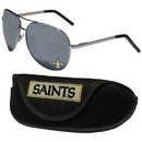 Siskiyou Buckle New Orleans Saints Aviator Sunglasses and Sports Case, FASG150SC
