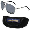Siskiyou Buckle Baltimore Ravens Aviator Sunglasses and Sports Case, FASG180SC