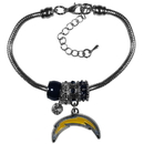 Siskiyou Buckle Los Angeles Chargers Euro Bead Bracelet, FBBR040