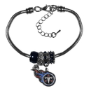 Siskiyou Buckle Tennessee Titans Euro Bead Bracelet, FBBR185