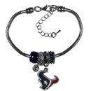 Siskiyou Buckle Houston Texans Euro Bead Bracelet, FBBR190