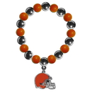 Siskiyou Buckle FBCB025 Cleveland Browns Chrome Bead Bracelet