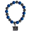 Siskiyou Buckle FBCB090 New York Giants Chrome Bead Bracelet