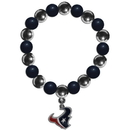 Siskiyou Buckle FBCB190 Houston Texans Chrome Bead Bracelet