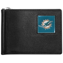 Siskiyou Buckle FBCW060 Miami Dolphins Leather Bill Clip Wallet