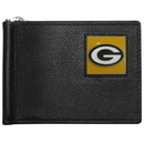 Siskiyou Buckle FBCW115 Green Bay Packers Leather Bill Clip Wallet