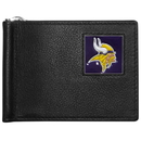 Siskiyou Buckle FBCW165 Minnesota Vikings Leather Bill Clip Wallet